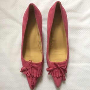 J. Crew Shoes - J. Crew | Suede Kitten Heel Pointed Toe Shoes